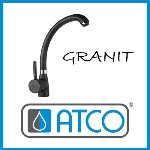 Sehr ATCO® Küchenarmatur Mischbatterie Granit schwarz Armatur HH21